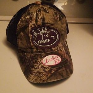 85bd9ac9e51 outdoor cap Accessories - RMEF ROCKY MOUNTAIN ELK CAMO HUNTRESS HAT hunting